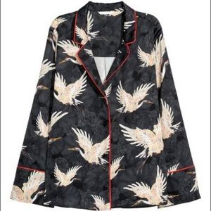 H&M Button Down Bird Shirt